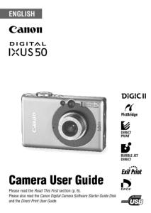 Canon IXUS 50 instruction manual (reprint)