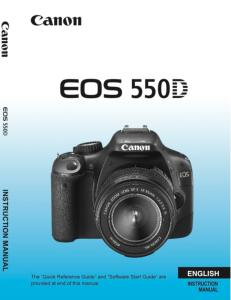 Canon camera news 2019: canon eos 550d / rebel t2i pdf user guide.