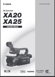 Canon XA20 / XA25 instruction manual (reprint)