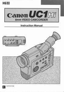 Canon UC1 Hi instruction manual (reprint)