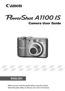 Canon PowerShot A1100 IS instruction manual (reprint)