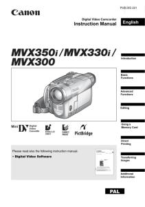 Mvx300 support download drivers, software and manuals canon uk.