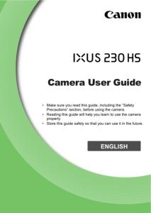 Canon IXUS 230 HS instruction manual (reprint)