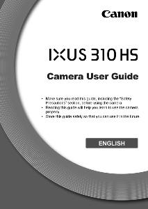 Canon IXUS 310 HS instruction manual (reprint)