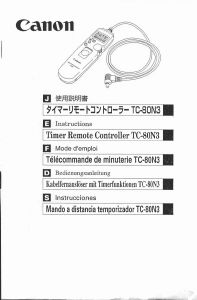 Canon Timer remote controller TC-80N3 instruction manual (reprint)