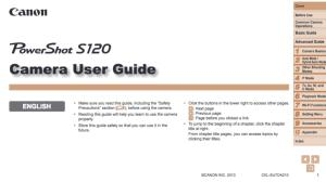 Canon Powershot S120 Instruction Manual