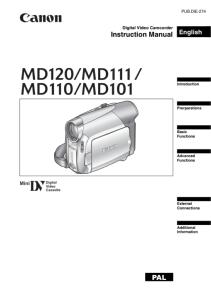 Canon  MD120 / M111/ MD110 / MD101 instruction manual (reprint)