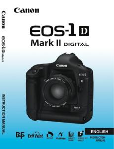 Canon EOS-1D Mark II instruction manual (reprint)