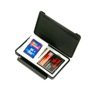 Ultra-slim memory card safe