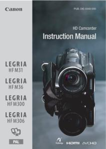 Canon HR M31 / 36 / 300 / 306 instruction manual (reprint)