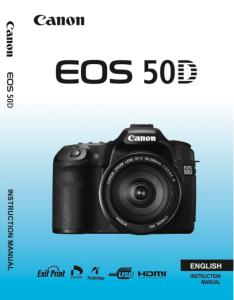 Canon EOS 50D instruction manual (reprint)