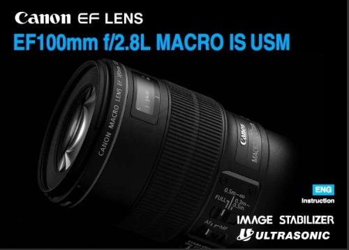 Canon EF 100mm f2.8L Macro IS USM instruction manual (reprint)