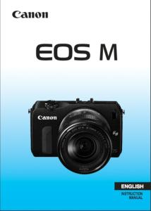 Canon EOS M instruction manual (reprint)