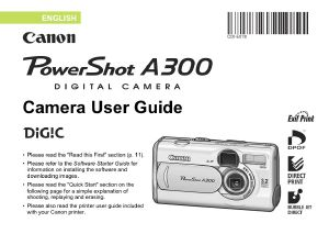 Canon PowerShot A300 instruction manual (reprint)