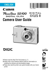 Canon IXUS II instruction manual (reprint)