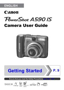 Canon PowerShot A590 IS instruction manual (reprint)