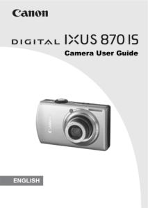 Canon IXUS 870 IS instruction manual (reprint)