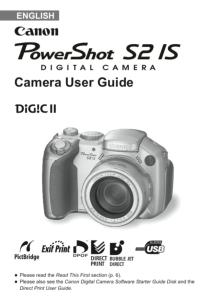 Canon PowerShot S2 IS instruction manual (reprint)