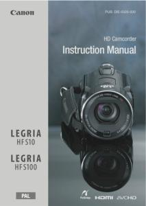 canon hf s10 hf s100 instruction manual rh eos magazine shop com Canon 100D canon legria hfs100 manual