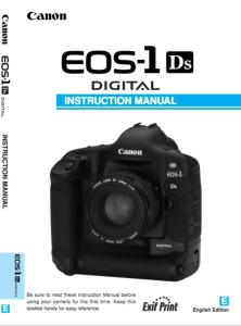Canon EOS-1Ds instruction manual (reprint)