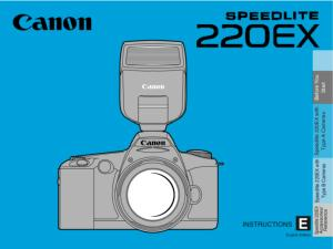 Canon Speedlite 220EX instruction manual (reprint)