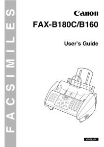 Canon B160/ B180C instruction manual (reprint)