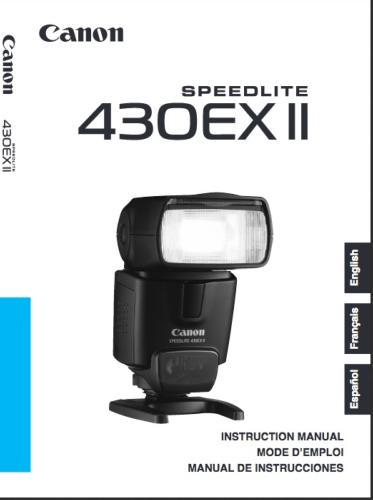 Canon Speedlite 430EX II instruction manual (reprint)