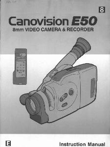 Canon E50 instruction manual (reprint)