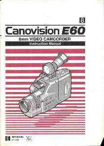 Canon E60 instruction manual (reprint)