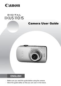 Canon IXUS 110 IS instruction manual (reprint)