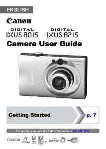 Canon IXUS 80 IS / 82 IS instruction manual (reprint)