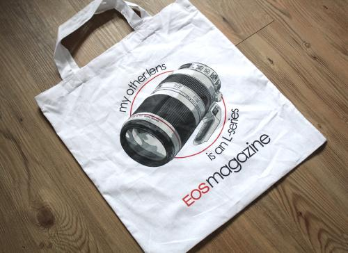 'My other lens' tote bag