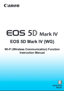 Canon EOS 5D Mark IV Wi-Fi instruction manual (reprint)