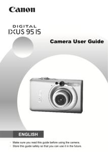Canon IXUS 95 IS instruction manual (reprint)