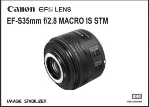 Canon EF-S 35mm f/2.8 Macro IS STM  instruction manual (reprint)