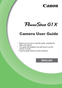 Canon PowerShot G1 X instruction manual (reprint)