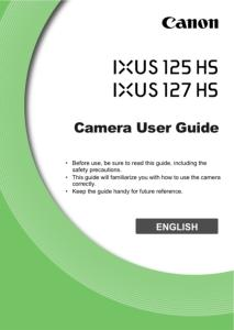 Canon IXUS 125 HS / 127 HS instruction manual (reprint)