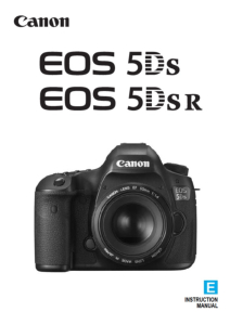 Canon EOS 5DS/ 5DS R instruction manual (reprint)