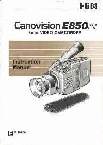 Canon E850 Hi instruction manual (reprint)