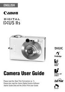 Canon IXUS IIs instruction manual (reprint)