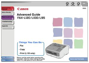 Canon i-SENSYS L120/ L100/ L95 instruction manual (reprint)