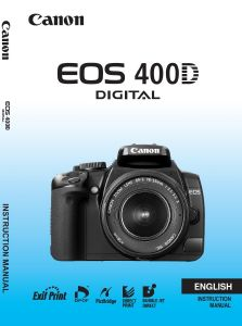Canon EOS 400D instruction manual (reprint)