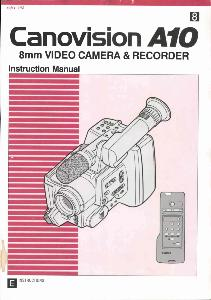 Canon A10 instruction manual (reprint)