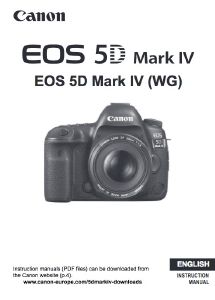 Canon EOS 5D Mark IV instruction manual (reprint)