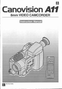 Canon A11 Camcorder instruction manual (reprint)