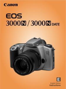 Canon EOS 3000N instruction manual (reprint)