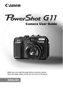 Canon PowerShot G11 instruction manual (reprint)