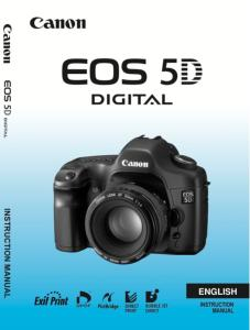 Canon EOS 5D instruction manual (reprint)