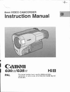 Canon G30Hi / G35Hi instruction manual (reprint)