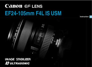 Canon EF 24-105mm f4L IS USM instruction manual (reprint)